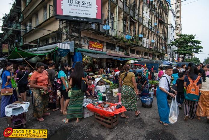 Yangon, il quartiere cinese