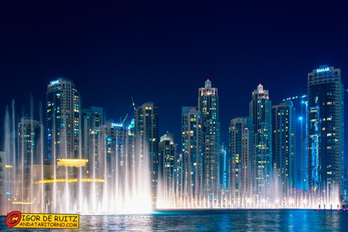 Le fontane al Burj Khalifa