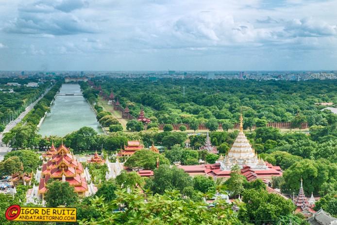 Vista dalla Mandalay Hill