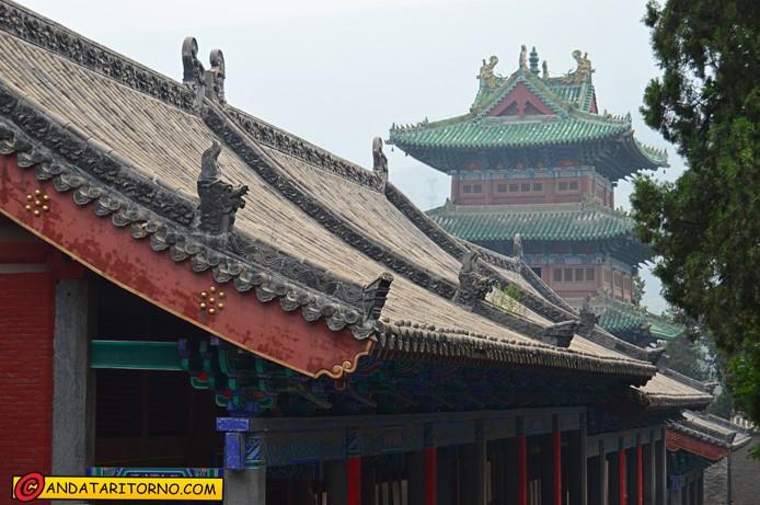 Scorcio tra gli edifici al Tempio Shaolin