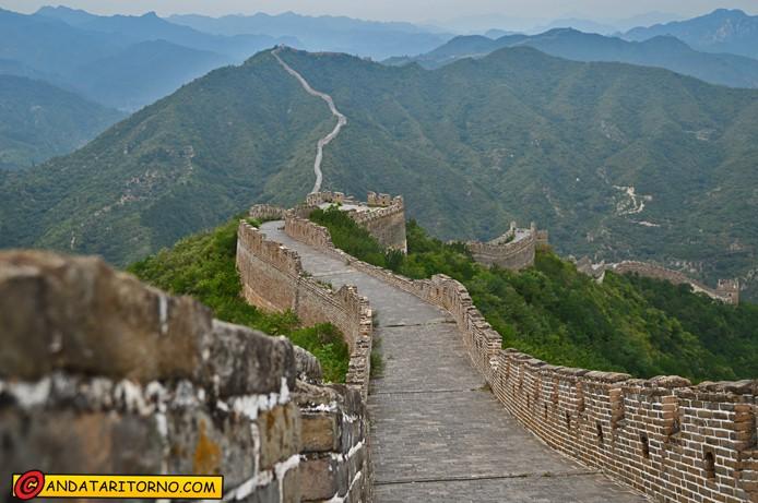 La Grande Muraglia nella sezione di Huanghua
