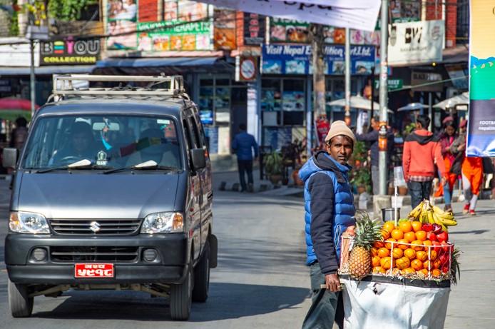 Il quartiere Lakeside a Pokhara